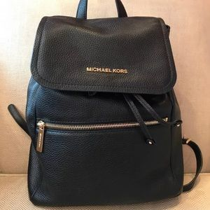 NWT Michael Kors Rachel Black Leather Backpack